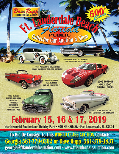 Ft Lauderdale Beach Collector Car Auction Presented By Dave Rupp